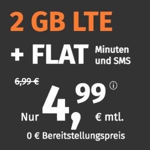 月租€4.99 免除€19.99接通费