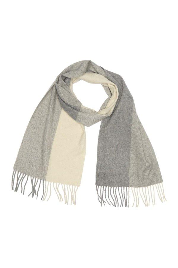 Colorblock Print 羊绒围巾
