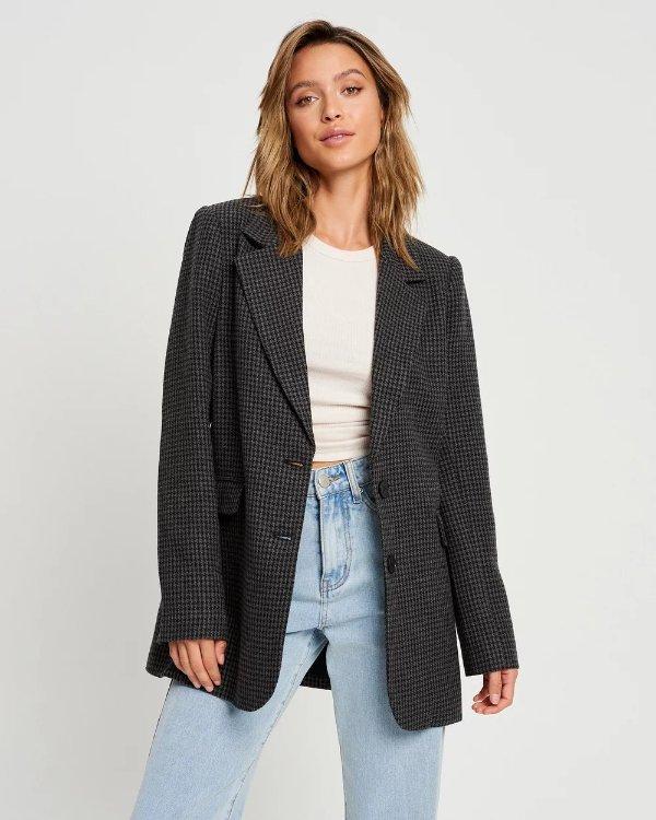 Carolina格纹西装外套