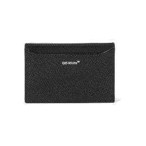 a39042716 Off-White Textured-leather shoulder bag. Off-WhiteStriped textured-leather  cardholder