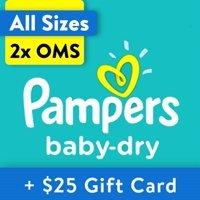 两箱送$25礼卡 单片$0.13起Pampers 全系列婴儿纸尿裤热卖,收Swaddlers