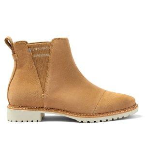 Toms棕色平底短靴