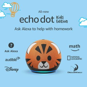 Dot4小脑斧+Glow灯仅$49.99史低价:全新 Echo Dot 第四代 儿童版智能语音助手,两种花色