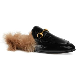 Gucci Princetown Genuine Shearling Loafer Mule (Women) | Nordstrom