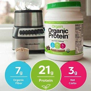 $16.92(原价$20.98)Orgain 有机代餐植物蛋白粉2.03磅巧克力味促销
