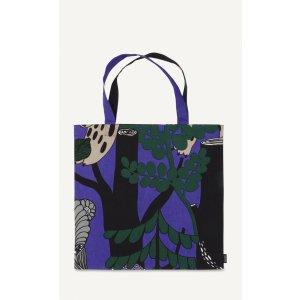 Veljekset cotton tote - violet, black, grey, beige - Bags - New - Marimekko.com