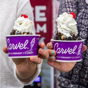Buy One get One FreeCarvel Ice Cream Sundaes BOGO Wednesdays