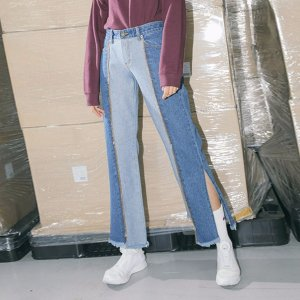 Stylenanda拼色牛仔裤
