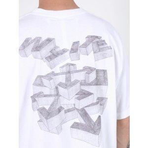 Off-White3d Pencil Short Sleeve T-shirt White