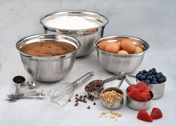 Estilo 不锈钢厨房搅拌盆超值12件套