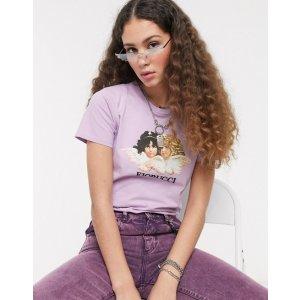 Fiorucci紫色小天使短袖