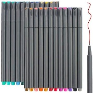 Taotree 24色彩色水性勾线笔 0.38MM