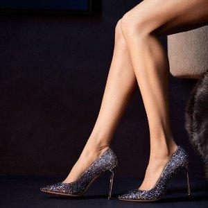 每满$100立减$25Jimmy Choo 美鞋超值热卖 收超美亮片鞋