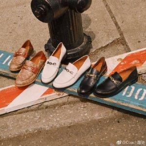 低至2.5折+额外8.5折Coach Outlet 乐福鞋低价抢 Gucci的完美平替 经典白色款$67