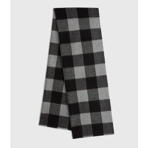 ALLSANTS格子羊毛围巾