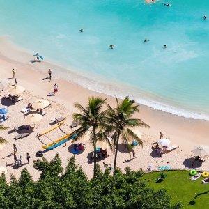 每人$599起, 立省$565夏威夷旅游套餐捡漏 希尔顿海景房4晚+往返机票 人气好价