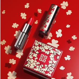 新年限量小羊皮口红补货Givenchy 全线彩妆超值热卖  寒冬腊梅