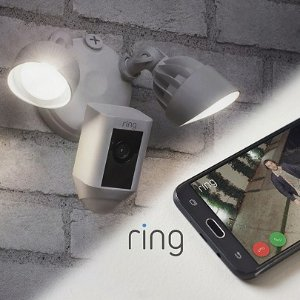 Special Value $219.95Ring Floodlight Security Camera Wide Angle HD Two-Way Talk w/ 3yr Warranty