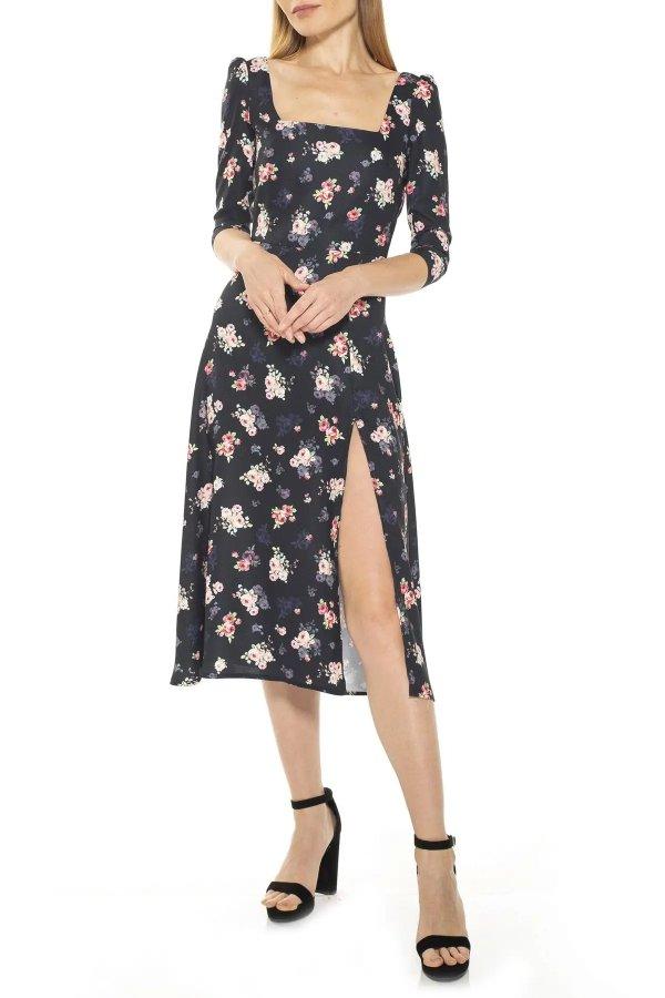 Sage 方领连衣裙