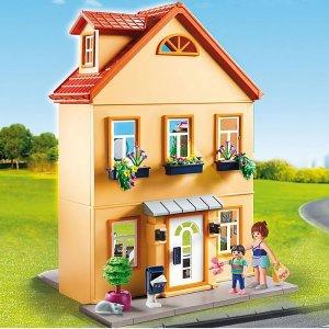 8.5折+免邮 送换装娃娃摩比世界 女孩最爱豪华娃娃屋 196件配件解锁无限乐趣