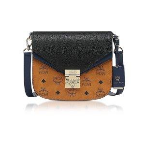 MCMPatricia Visetos Leather Block Small Shoulder Bag