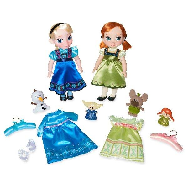 Anna and Elsa 可唱歌娃娃套装