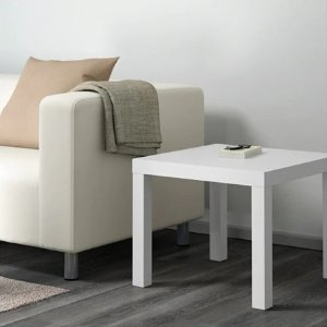 IkeaLACK Side table - white, 21 5/8x21 5/8