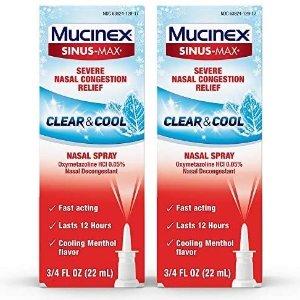 Mucinex 鼻子舒缓喷雾 2瓶
