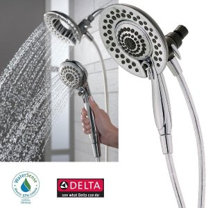 Delta In2ition 5-Function Handheld Dual Shower Head 2-in-1