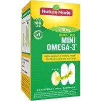 Nature Made Omega-3 小粒版鱼油 防打嗝款 60粒