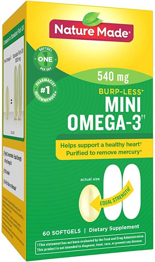 Omega-3 小粒版鱼油 防打嗝款 60粒
