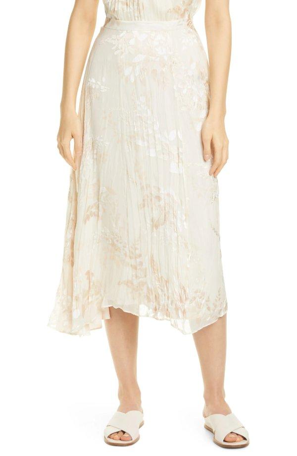 Burnout Floral 半身裙