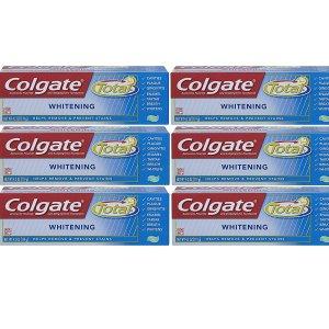 $12.99(原价$20.94)Colgate Total 美白凝胶牙膏 6支装