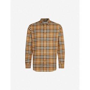 BurberryChambers regular-fit cotton-flannel shirt