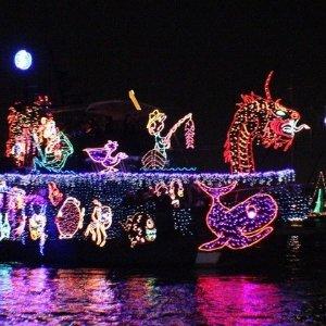 洛杉矶 纽波特邮轮 圣诞灯展