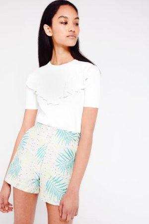 Daphnea Palm Print Shorts
