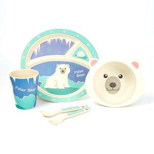 低至$6.99 封面5件套仅$11.99即将截止:Bamboo Studio 儿童餐具、围兜特卖 清新可爱,宝宝更有食欲