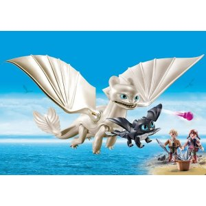 PLAYMOBIL®Light Fury with Baby Dragon and Children