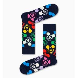 Happy Socks彩色米奇中筒袜