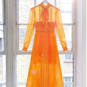 低至4折 + 额外7折Self-Portrait 美裙来袭,蕾丝飘飘仙气氤氲