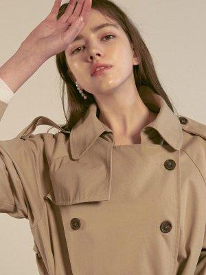Vivian Double Trench Coat Beige  | W Concept