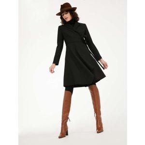 Max MaraWool crepe dress, black -