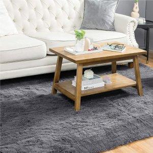 Bedsure Fluffy Area Rug for Living Room, 5.3 x 7.5 Feet