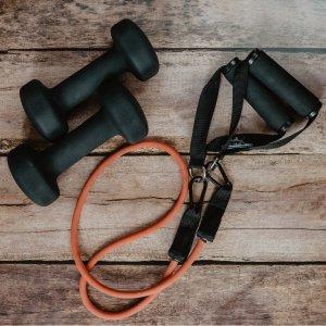 3.6折起 €6.49收阻力带*5Amazon 精选家庭健身器械 弹力带、跳绳、哑铃等练出好身材