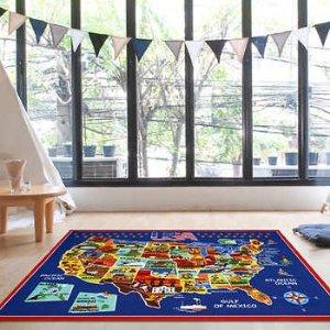 SmithsonianEnds 9/9Ultimate USA Map Educational Rug