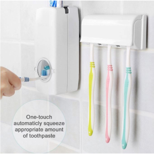 清仓价$9.38(原价$19.7)OUTAD自动挤牙膏神器+牙刷架
