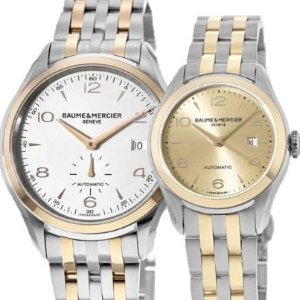 Baume & Mercier Clifton Rose Gold & Stainless Steel watches