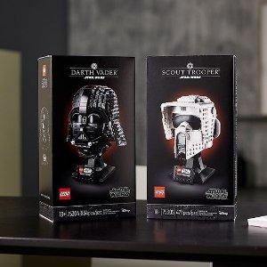 $69.99 现可预订+送复活节礼物新品上市:LEGO 乐高官网 星战 黑武士、帝国侦察兵头盔、帝国探测机器人
