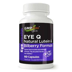 GMP Vitas® Eye Q Natural Lutein & Bilberry Formula 60 Capsules