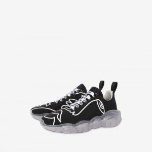 Moschino手绘图案泰迪运动鞋
